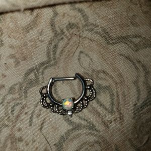 Jewelry - Opal septum ring